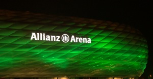 Allianz Arena Munich in Green light