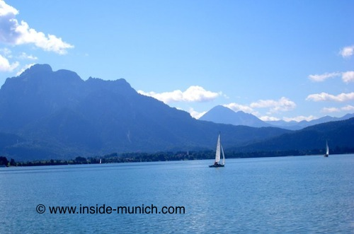 Bavarian lake near the Alps