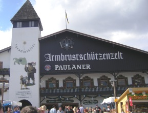 Armbrustschützenzelt with Paulaner Beer & Oktoberfest Munich - Beer Tents