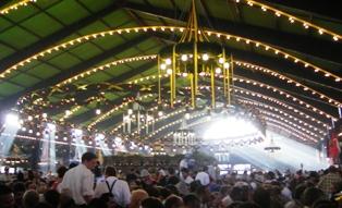 Augutiner Beer Tent at Oktoberfest Munich