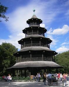 Beer Garden Chinesischer Turm in Munich