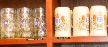 Authentic Munich beer steins