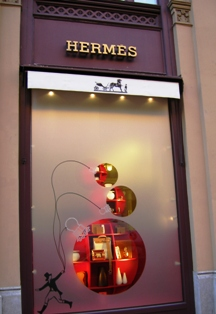 Hermes Designer Clothes Store in Munich