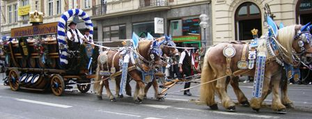 Hofbräu carriage drawn by four horses