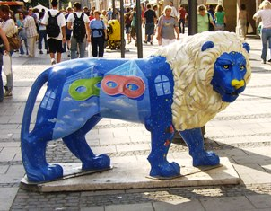 Masked Lion in Munich