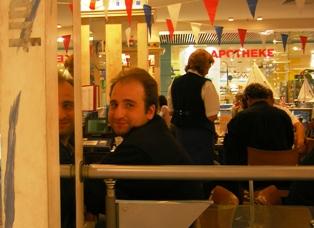 Tobi at the Olympia Shopping Center Munich