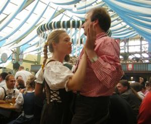 Dancing in Beer Tent