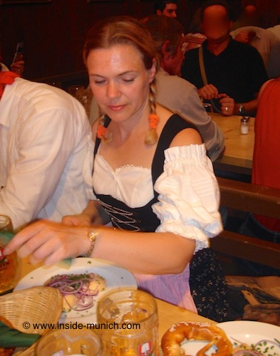 Food and Beer at Oktoberfest
