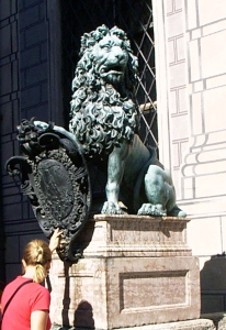 Bronze Lion Munich