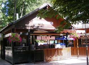 Self Service booth at Chinesischer Turm beer garden in Munich