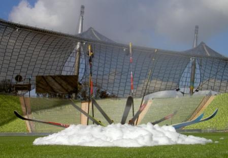 Skis in the Olympastadium