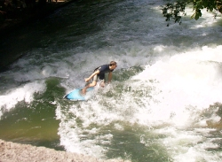 Surfing in the Eisbach