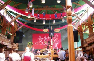 Weinzelt at Oktoberfest Munich